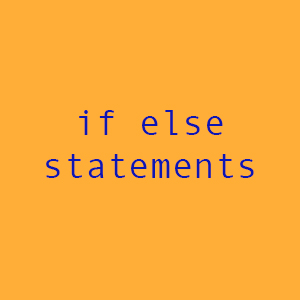 if else statements graphic